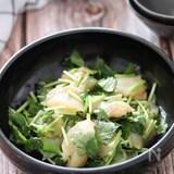 ホタテの甘みと絶妙なソース♡ホタテとみつばの和風カルパッチョ