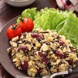 お豆とひじきの健康ポテサラ