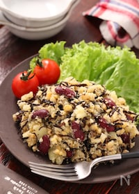 『お豆とひじきの健康ポテサラ』