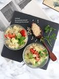 アボカドと茹で玄米のサラダ