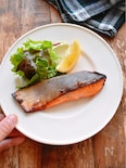 【発酵】さっぱりやさしい鮭の塩麹レモン焼き