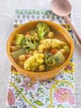冬野菜とひよこ豆のサンバル風スープカレー