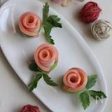 3ステップ!葉っぱもできちゃう♪かまぼこのバラ