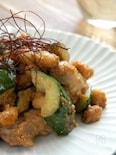 きゅうりと大豆のごま味噌炒め