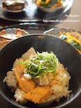 里芋と鮭の炊き込みご飯