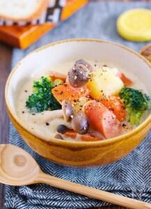 『たっぷり野菜のほっこり♡豆乳味噌スープ』
