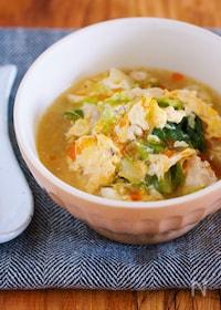 『重ねて10分♪ごま油香る♪『白菜とひき肉のとろとろ卵スープ』』