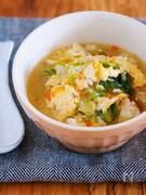 重ねて10分♪ごま油香る♪『白菜とひき肉のとろとろ卵スープ』