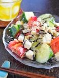【調理2分】トマトときゅうりのサラダ