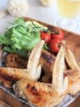 鶏手羽先のバーベキューソース焼き