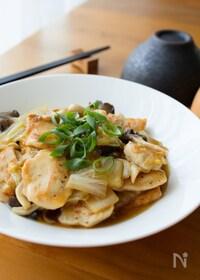 『ご飯のっけも!『白菜とやわらかむね肉の中華風とろみ煮』』