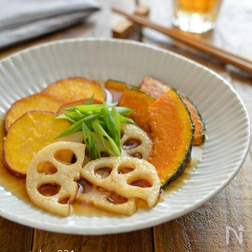 秋野菜のまろやか南蛮漬け。簡単!季節の副菜。作り置きにも♪