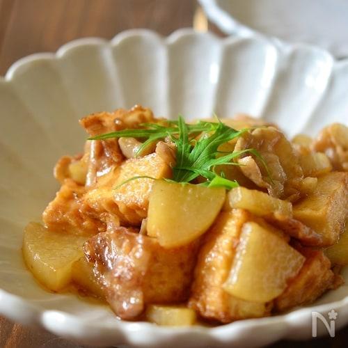 豚バラ大根と厚揚げの炒め煮【作りおき】