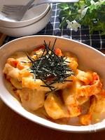 レンチン&トースターで簡単♡里芋とお揚げのコチュ味噌チーズ焼