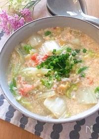 『玉子豆腐とカニカマ使って簡単うまうまあんかけ白菜♡』