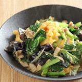 小松菜とふんわり卵の炒め物