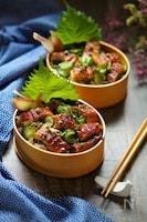 絶品寿司☆鰻ときゅうりの薬味酢飯の散らし寿司