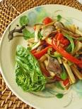 砂肝と2色ピーマンのオイスター炒め(夏の養生ごはん)