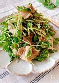 『豆苗と豚肉の中華サラダ』