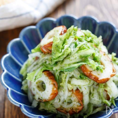白菜とちくわののり塩ナムル【#作り置き#ポリ袋#やみつき】