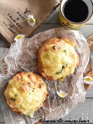 トースターで簡単!発酵不要のふわふわ♡クイックチーズブレッド