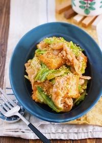 『ご飯がすすむ♪『豚バラキャベツと厚揚げのスタミナ味噌炒め』』
