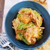 ご飯がすすむ♪『豚バラキャベツと厚揚げのスタミナ味噌炒め』