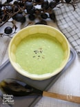 簡単!小松菜とトウモロコシのグリーンポタージュ