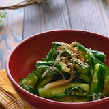 【らくレピ】ポリ袋で簡単!たたききゅうりの香味野菜漬け