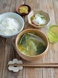 キャベツの味噌汁。旬の野菜たっぷり、食べる味噌汁!