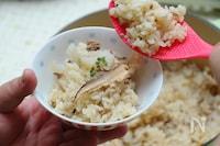 レンコンと干しシイタケの中華風炊き込み御飯
