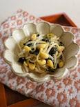 豆もやしと韓国のりのナムル