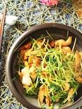 豆苗と鶏むね肉のヘルシー炒め