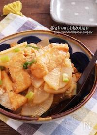 『しみしみで美味しい♡大根と油揚げで韓国風おでん♡』