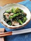 スピード料理☆豚バラ肉と菜の花のゴマ炒め