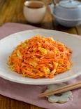 人参と卵の炒めもの。簡単な副菜♪作り置き、お弁当にも!