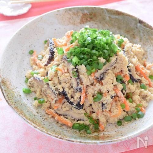 電子レンジで『おからの煮物』♡作り置きレシピ