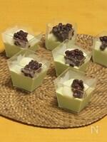 豆腐白玉と豆乳抹茶プリン