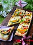 彩野菜とさつまいものクリーミーミルクパイ。