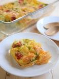 トースターで簡単!カラフル野菜のキッシュ