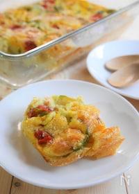 『トースターで簡単!カラフル野菜のキッシュ』