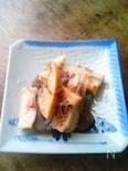 筍とれんこんこんにゃくの土佐煮風梅おかか和え