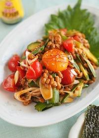 『1分で完成!ピリ辛ヘルシー『納豆の韓国風サラダ』』