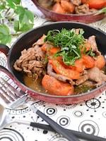 牛肉とトマトのガーリック醤油炒め