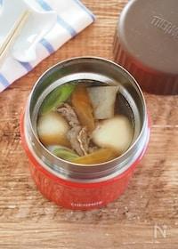『【スープジャー】お手軽!芋煮風(冷凍里芋・麺つゆ使用)』