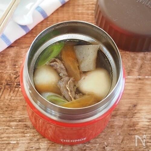 【スープジャー】お手軽!芋煮風(冷凍里芋・麺つゆ使用)