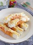 キャベツ入り竹輪の七味マヨチーズ焼き