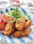 ホットケーキミックスで作る鶏ささみのフリッター
