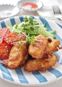 『ホットケーキミックスで作る鶏ささみのフリッター』