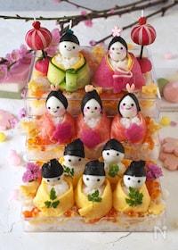 『可愛い♥︎雛壇ちらし寿司【ひな祭り・雛人形寿司・桃の節句】』